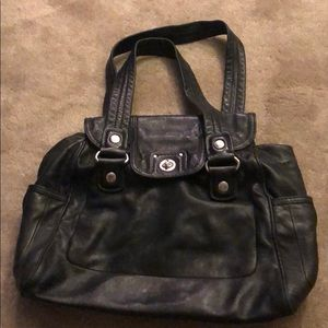 Black leather Marc by Marc Jacobs purse.